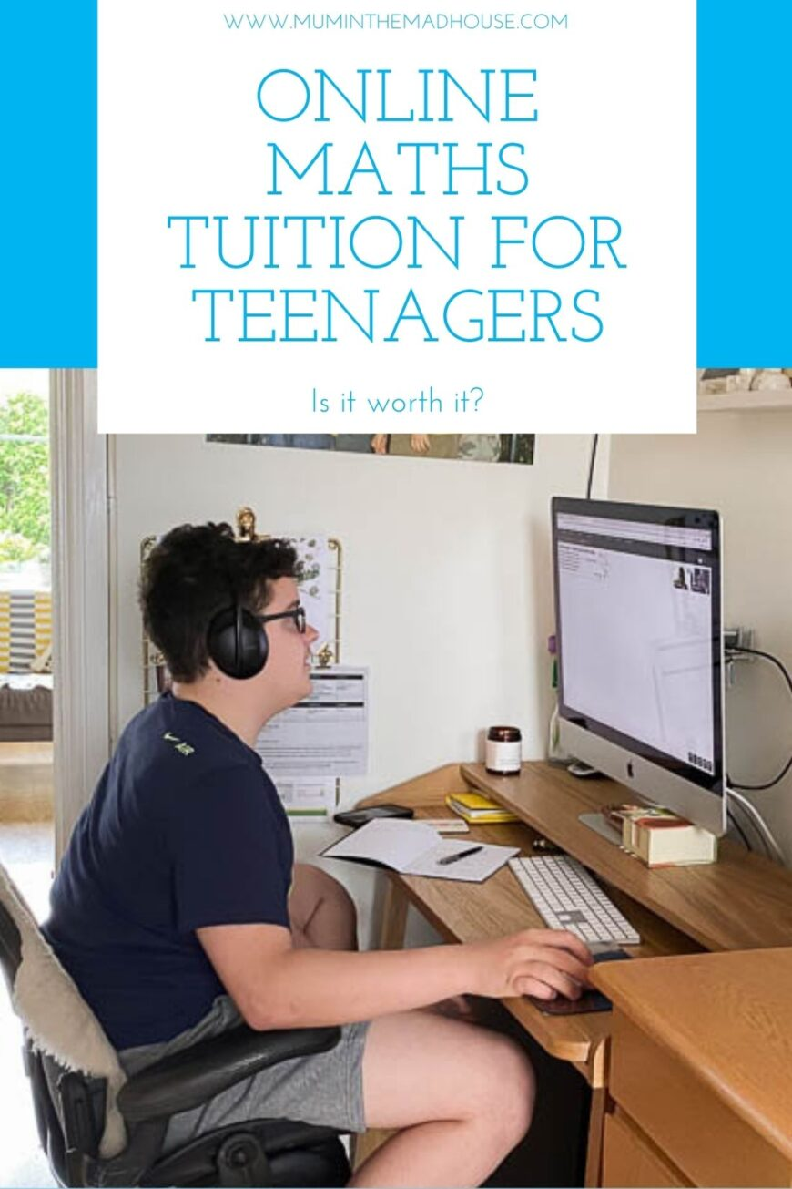 Online Maths Tuition for Teenagers, even reluctant ones - Is it worth it? Find out a parents and teenagers opinion and that teen hated live lessons!