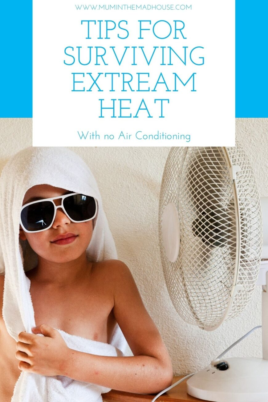 Tips for Surviving a Heat Wave with No Air Con that really work.   If AC is not an option use these tips for staying cool on those uncomfortably hot days and nights.