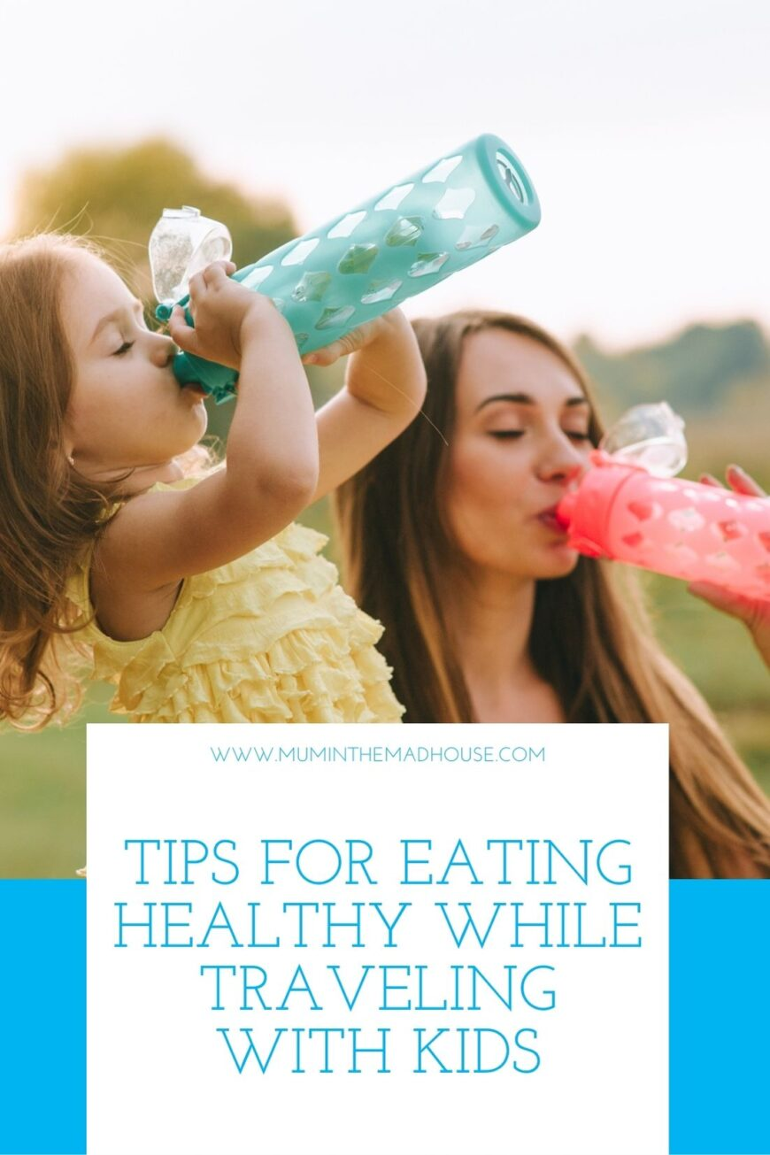 4 Tips for Eating Healthy While Traveling with Kids 1 pin