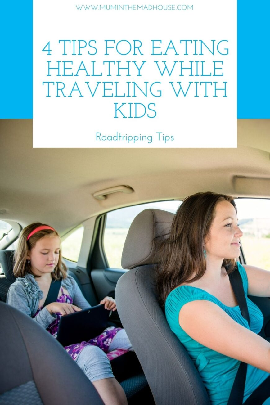 4 Tips for Eating Healthy While Traveling with Kids Pin