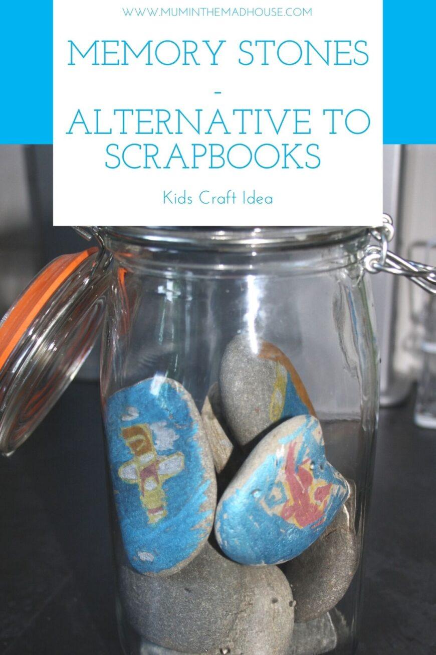 A jar full of painted rocks