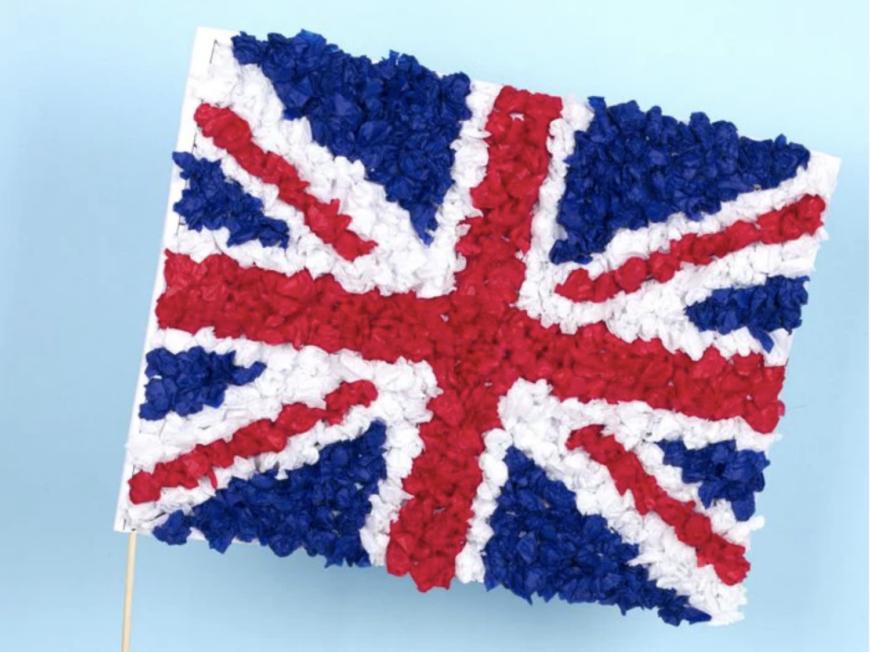 Union Jack Tissue Flag