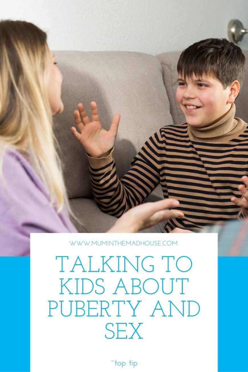 ing to Kids about Puberty and Sex can be a daunting subject for parents and kids so follow our tips on what to say and what NOT to say!