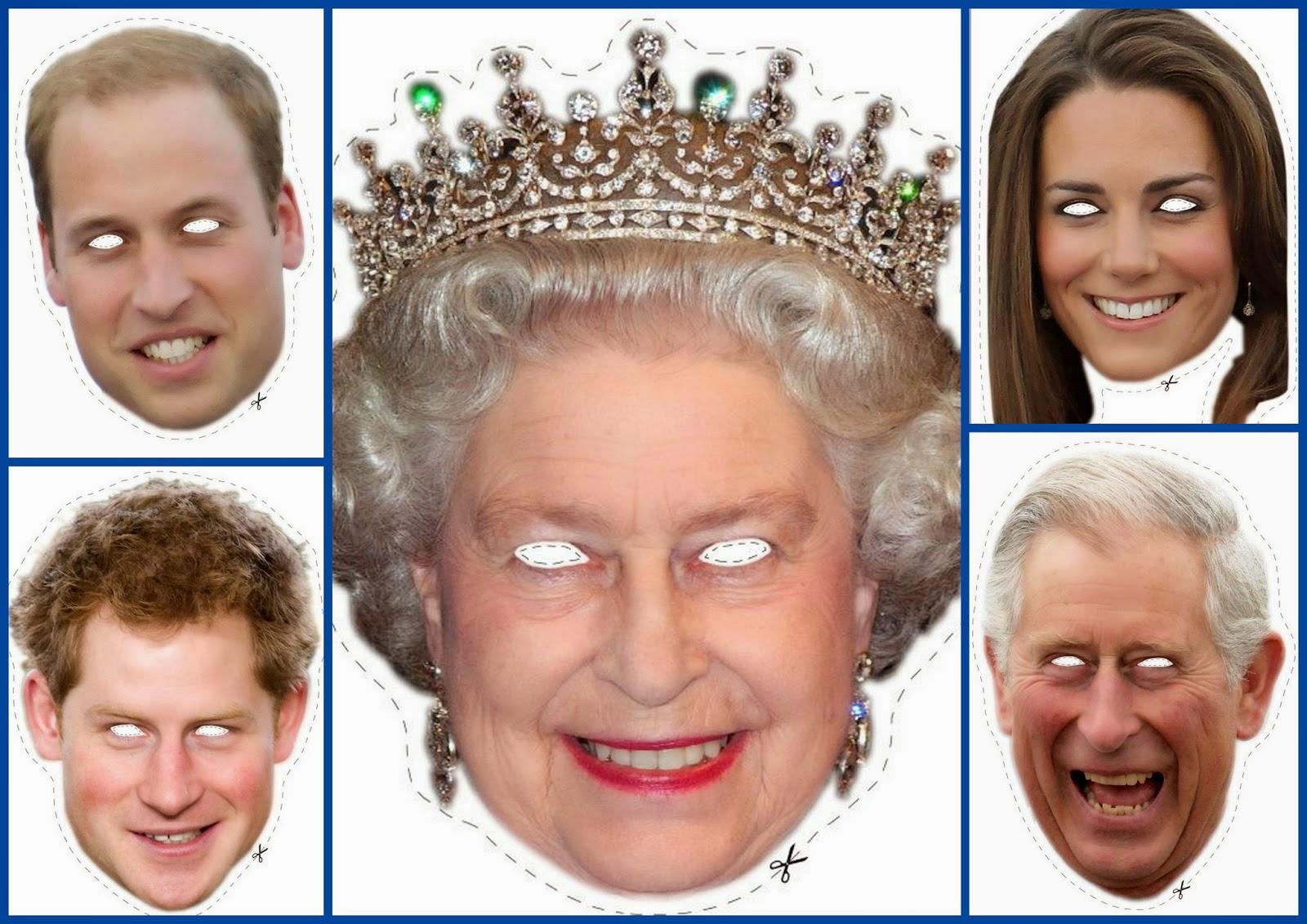 Royal Family Printable Masks