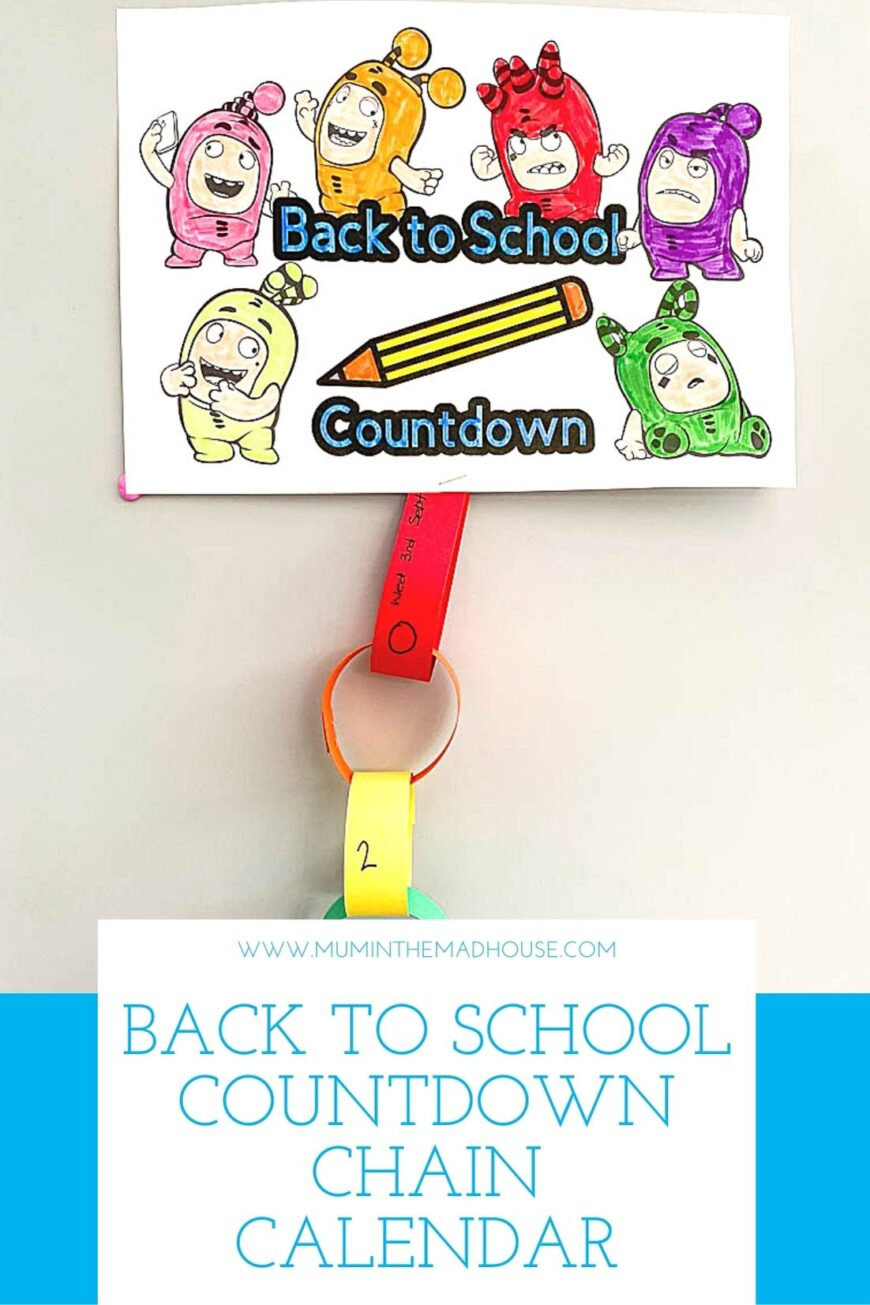 This simple back to school countdown chain is a great way to mentally prepare children for starting school or going back to school.