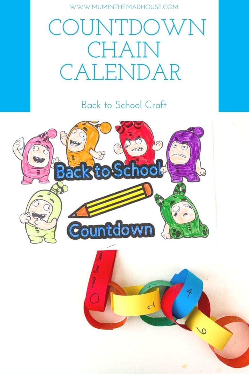 Back to school calendar paperchain