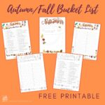 Free Autumn/Fall Bucket List For Families