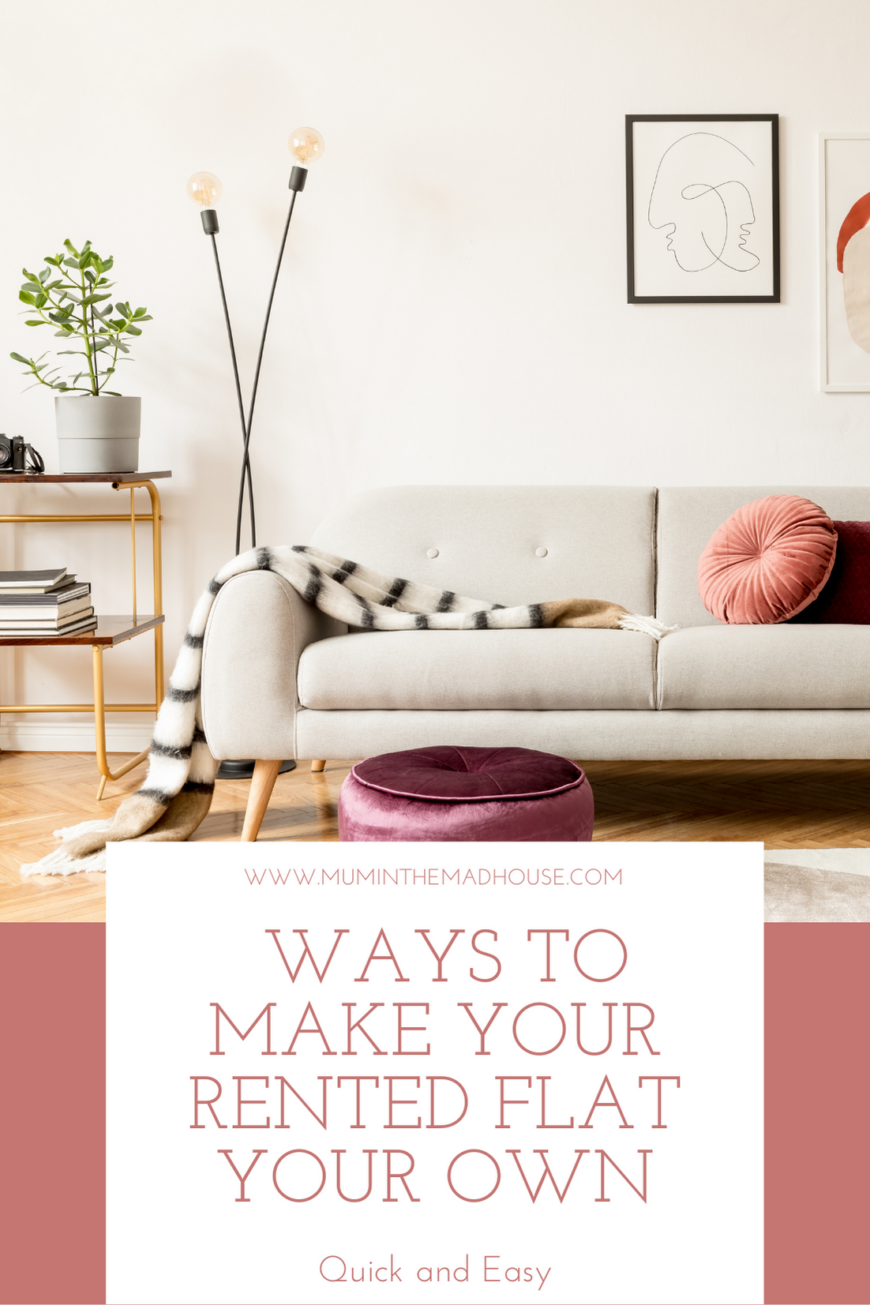 Quick and Easy Ways to Make Your Rented Flat Your Own pin 2